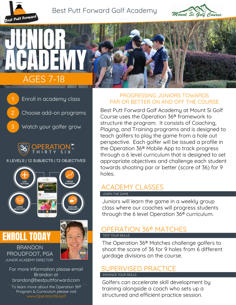 Junior Golf Academy - Mount Si Golf Course